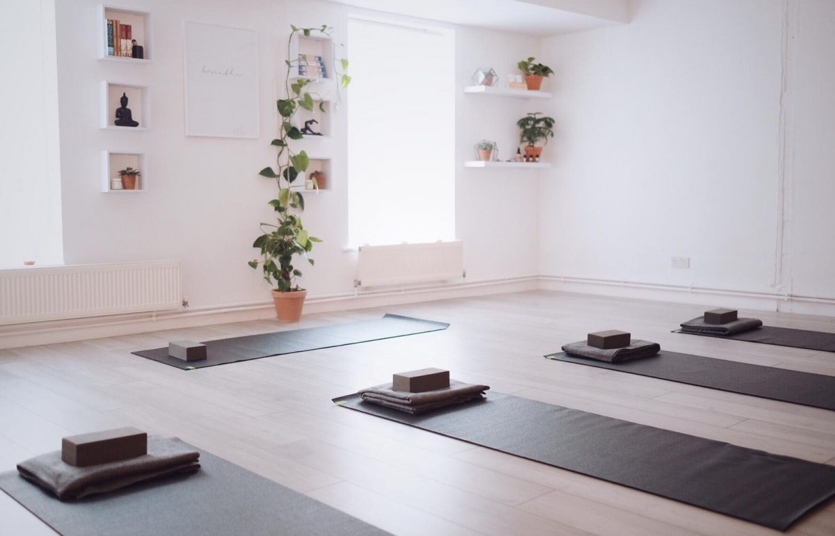 Yoga studio above Hertford Coffee Lab